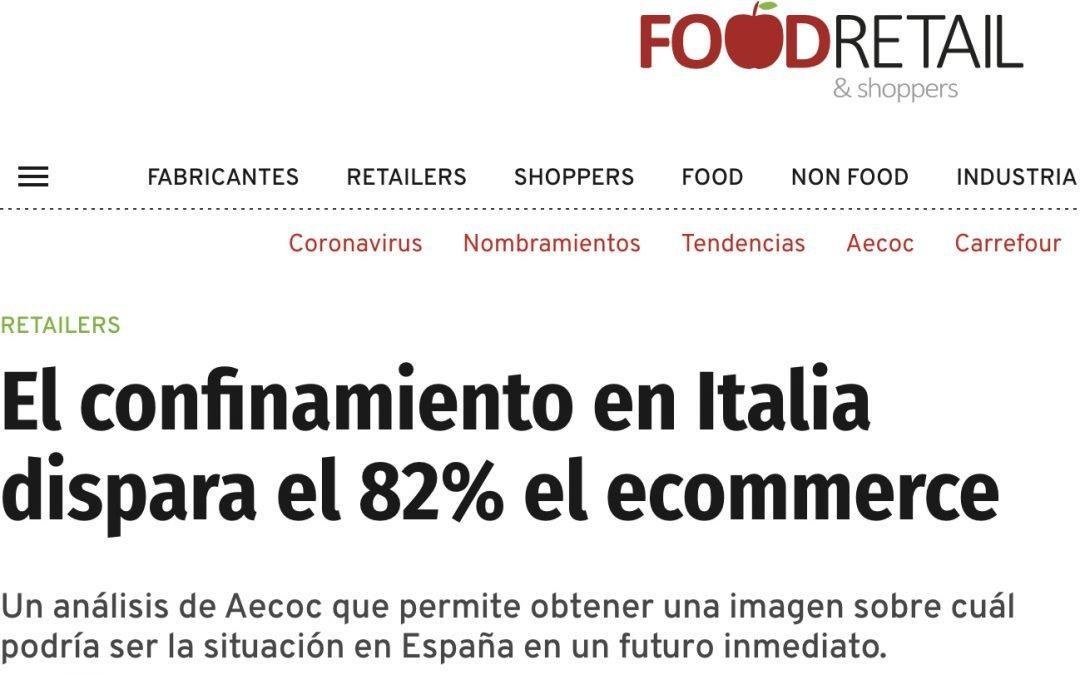 El confinamiento en Italia dispara el 82% el ecommerce