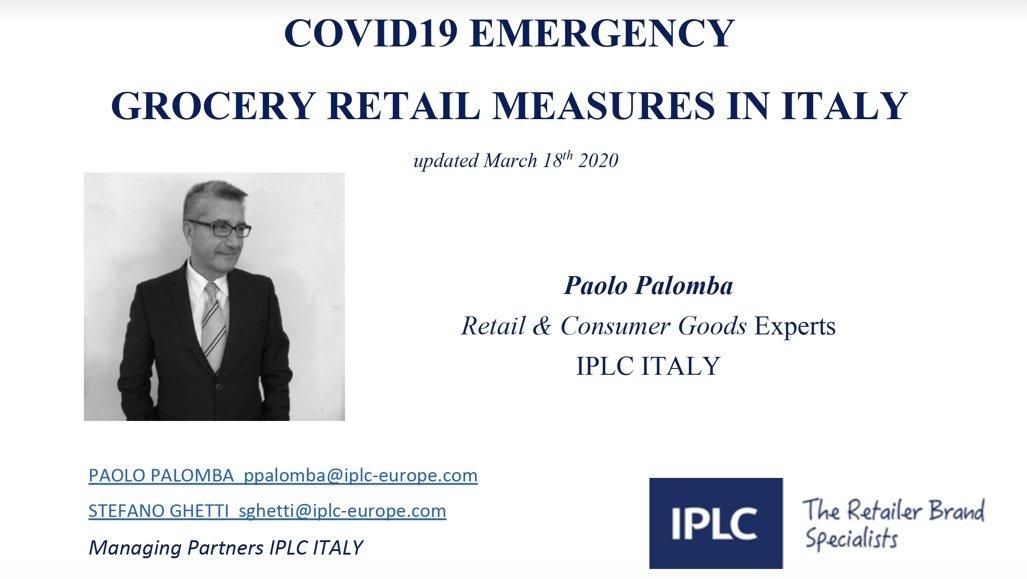 Covid-19: analisi della filiera alimentare italiana con focus sul Retail